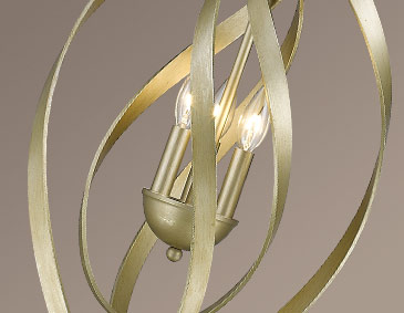 Nicolette Lighting Collection WG Series White Gold Finish - Pendant light collections