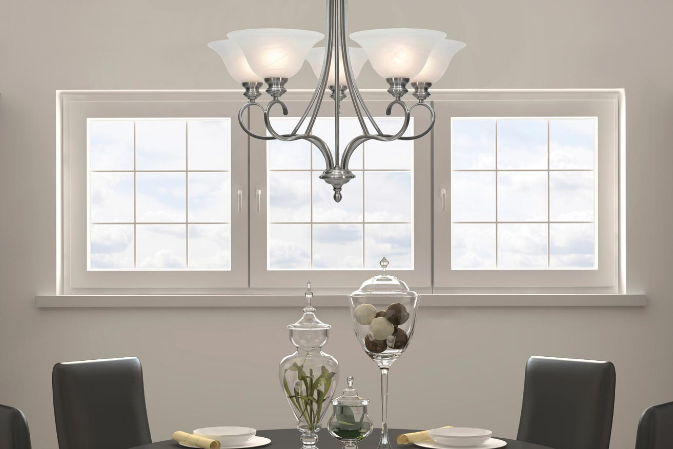 Lancaster PW Lighting Collection 6005 Series Pewter Finish With White Marbled Glass